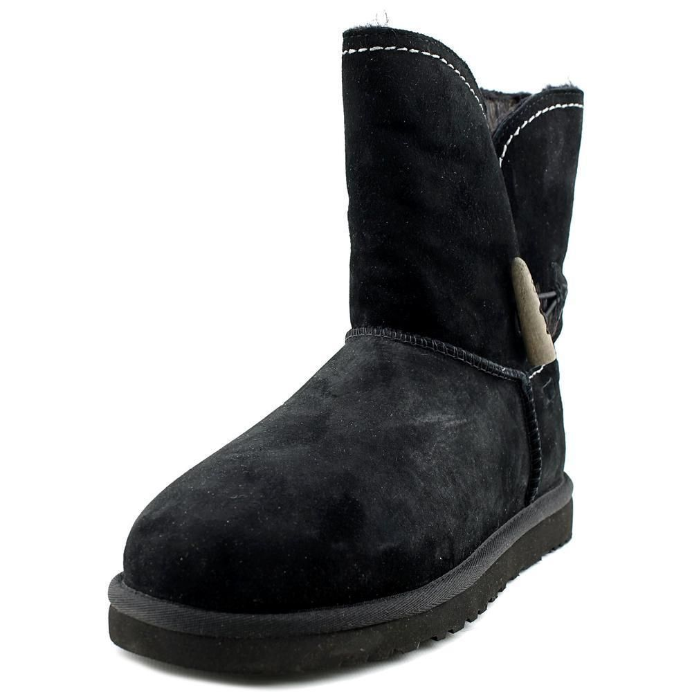 UGG Australia Leather Rounded-Toe Boots sale low cost LvTb83SX