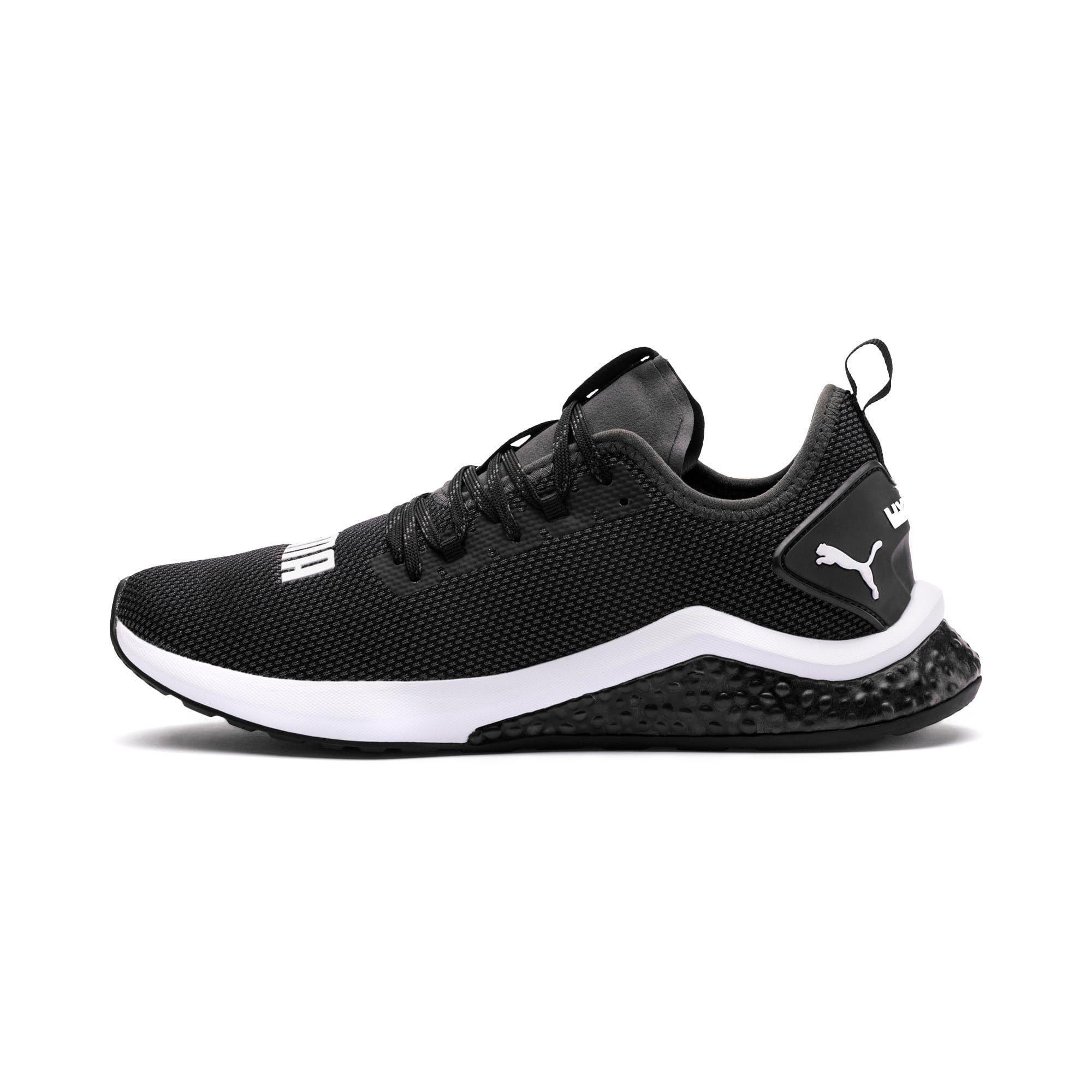 PUMA Hybrid Nx Mens Running Shoes in BlackWhite size 115