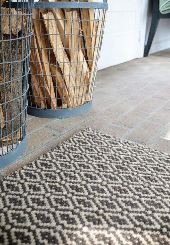 Corsican Natural Wool Woven Rug Hook Loom Mudroom Decor Ecofriendly