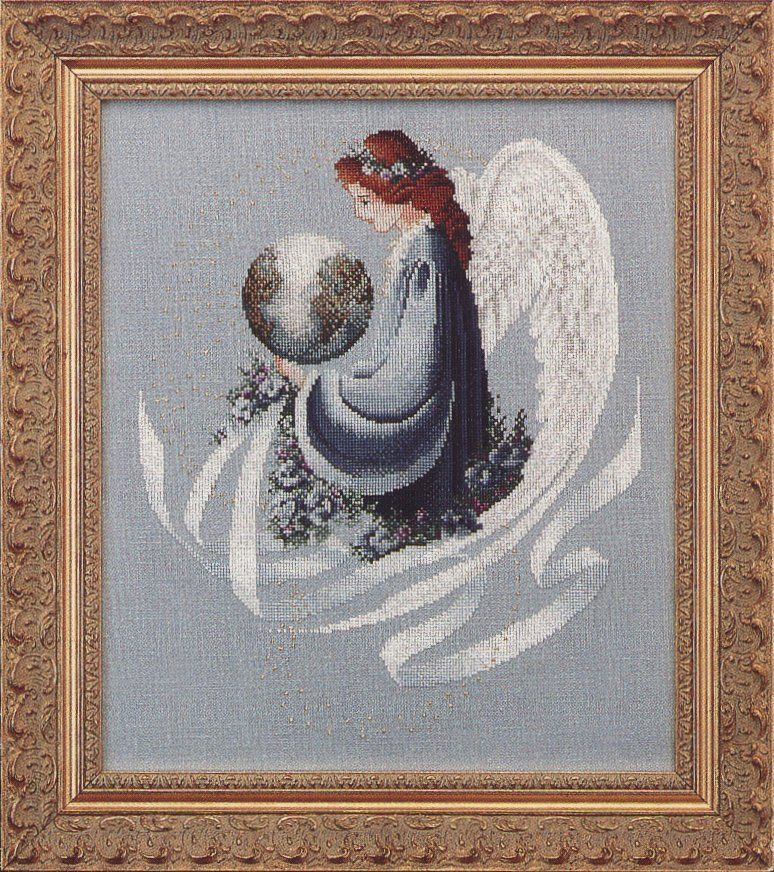 Victorian Designs Lavender /& Lace Earth Angel Counted Cross Stitch Pattern