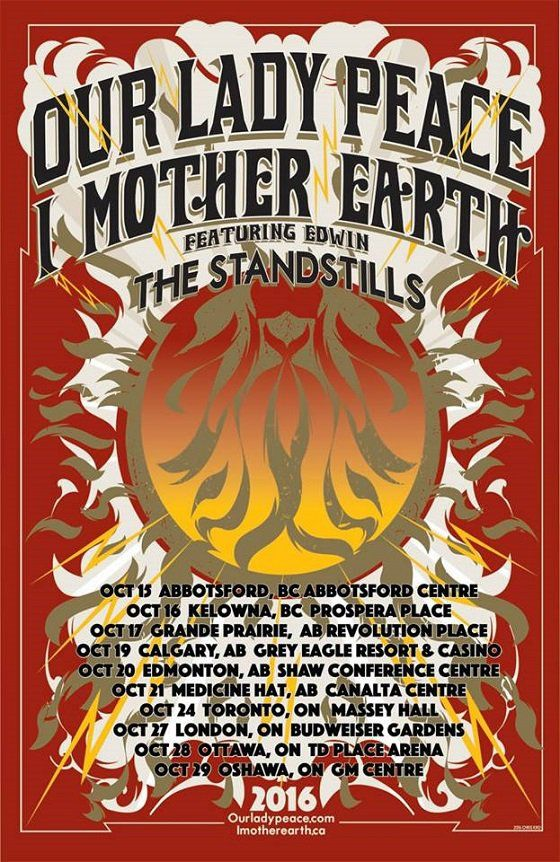 Our Lady Peace And I Mother Earth Team Up For Canadian Tour I Mother Earth Mother Earth Mother