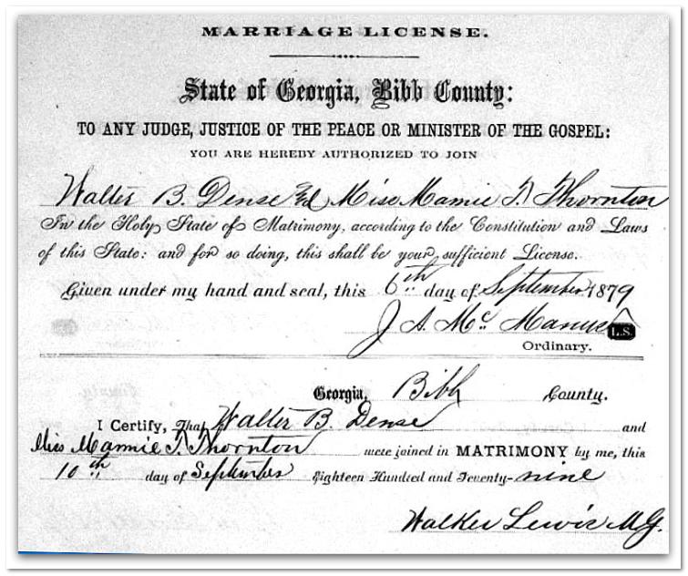How To Find Georgia Marriage Records Dense Thornton Marriage
