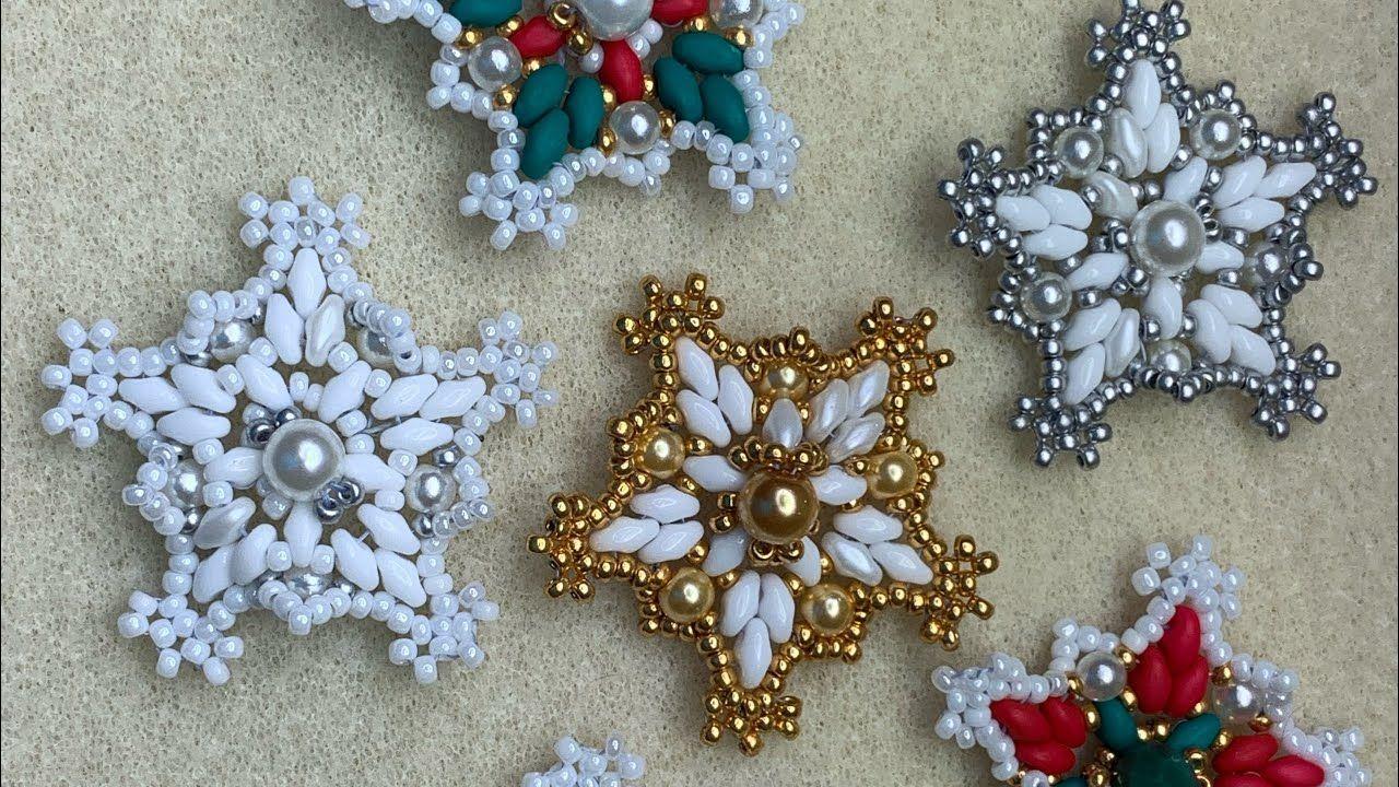 Beaded Christmas Star Beadedstar Beadedchristmasstar Youtube Beaded Ornaments Diy Beaded Christmas Decorations Christmas Bead