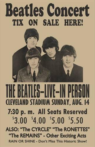 1966 Beatles Concert Poster