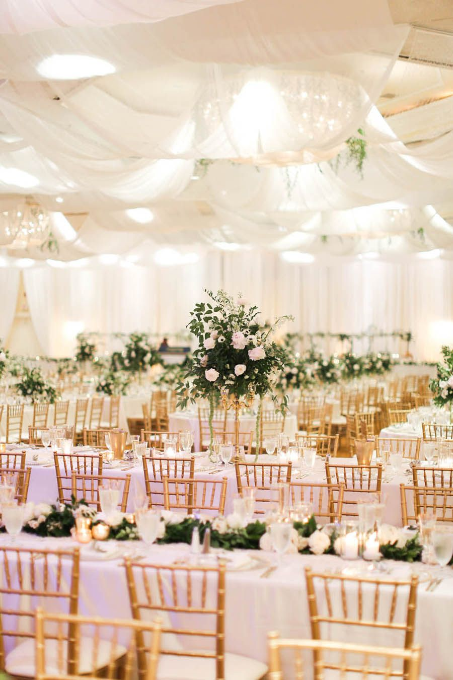Classic White Gold Tarpon Springs Greek Wedding Ballroom