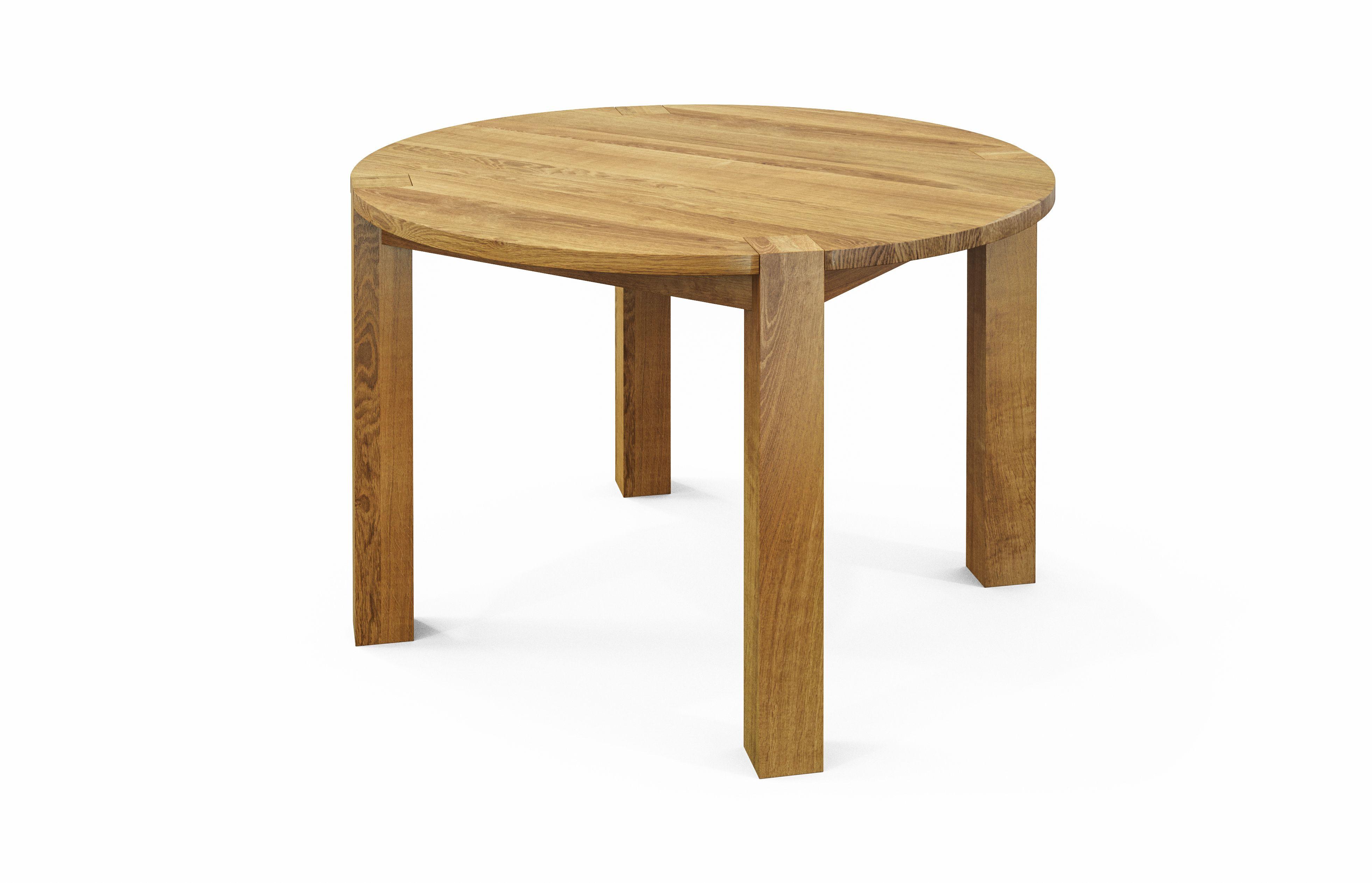 runder esstisch ole mit zarge aus massivholz comnata esstisch runderesstisch. Black Bedroom Furniture Sets. Home Design Ideas