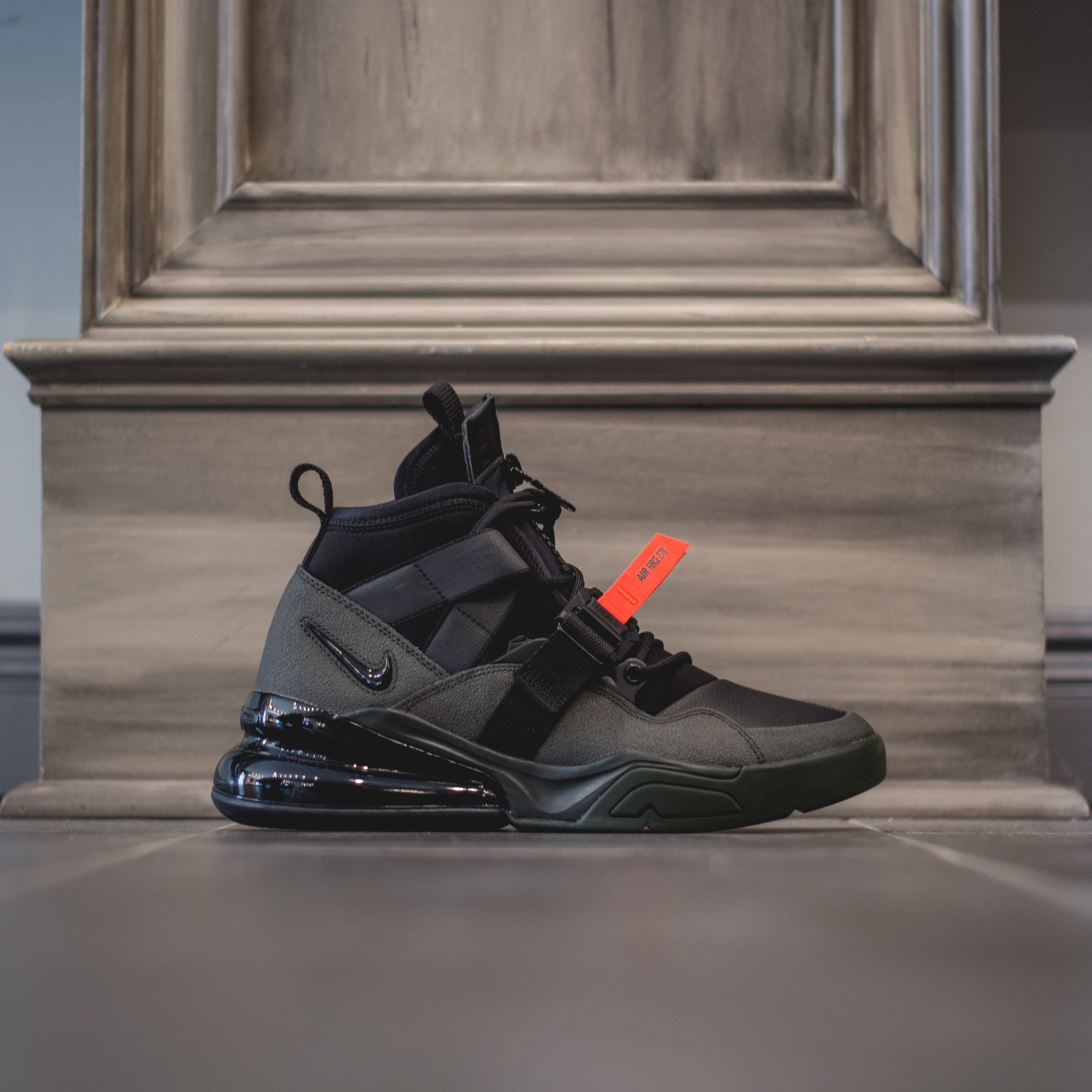 check out 84d4e 3d83d NIKE Air Force 270 Utility - Sequoia Black Habanero-Red