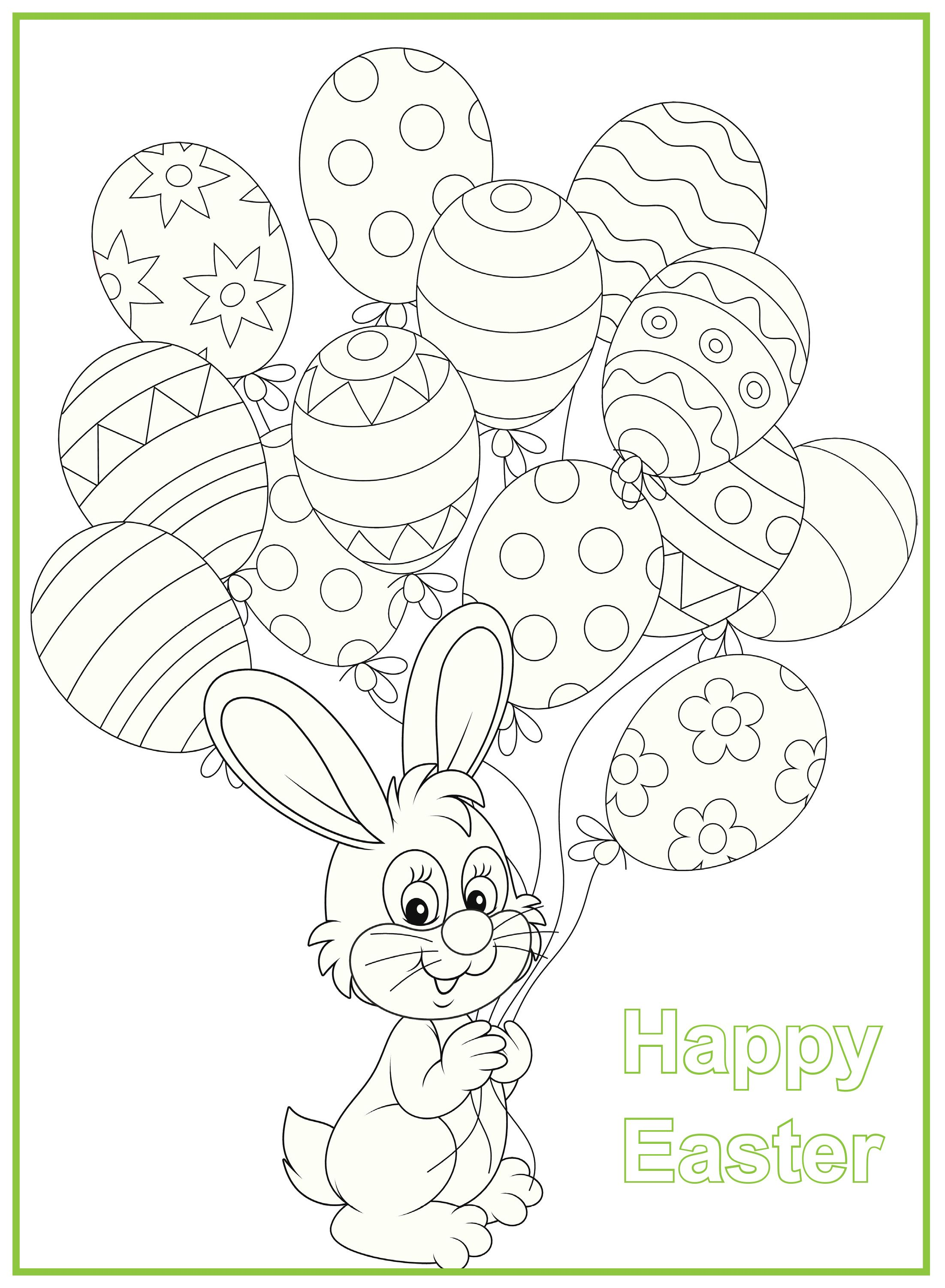 Print this cute Easter bunny for the kids to colour in ...