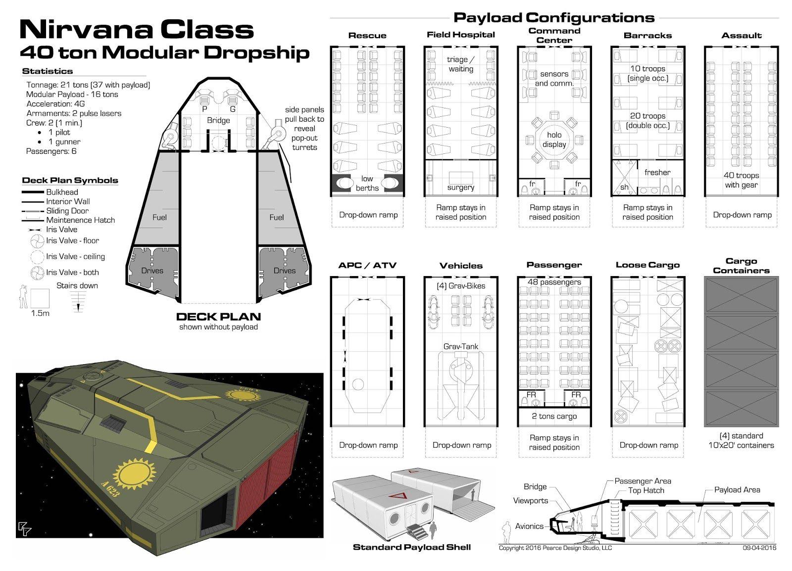 Traveller nirvanaclass dropshipg 16001154 gaming traveller nirvanaclass dropshipg 16001154 deck plansrpgsci baanklon Choice Image