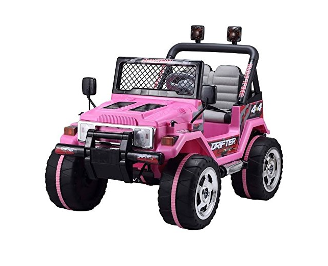 Rocket Drifter 2 Seater 4x4 12v Electric Ride On Jeep Pink Toy Car Kids Ride On Jeep