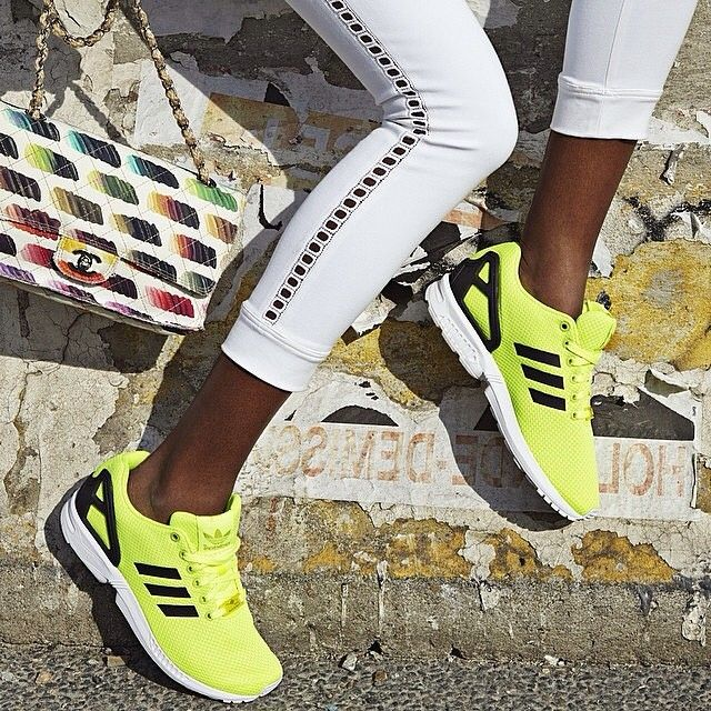 adidaswomen's photo: Every time #mygirls catch a style snap of the #zxflux #adidasshoes, we fall a little more in love  Check out the yellow colourway on this number from @adidasfr, as seen in the pages of @be_magazine  #FTW