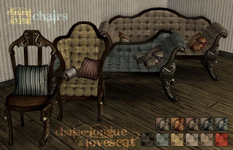Mod the sims victorian gothic set sims 3 pinterest for Chaise game free download