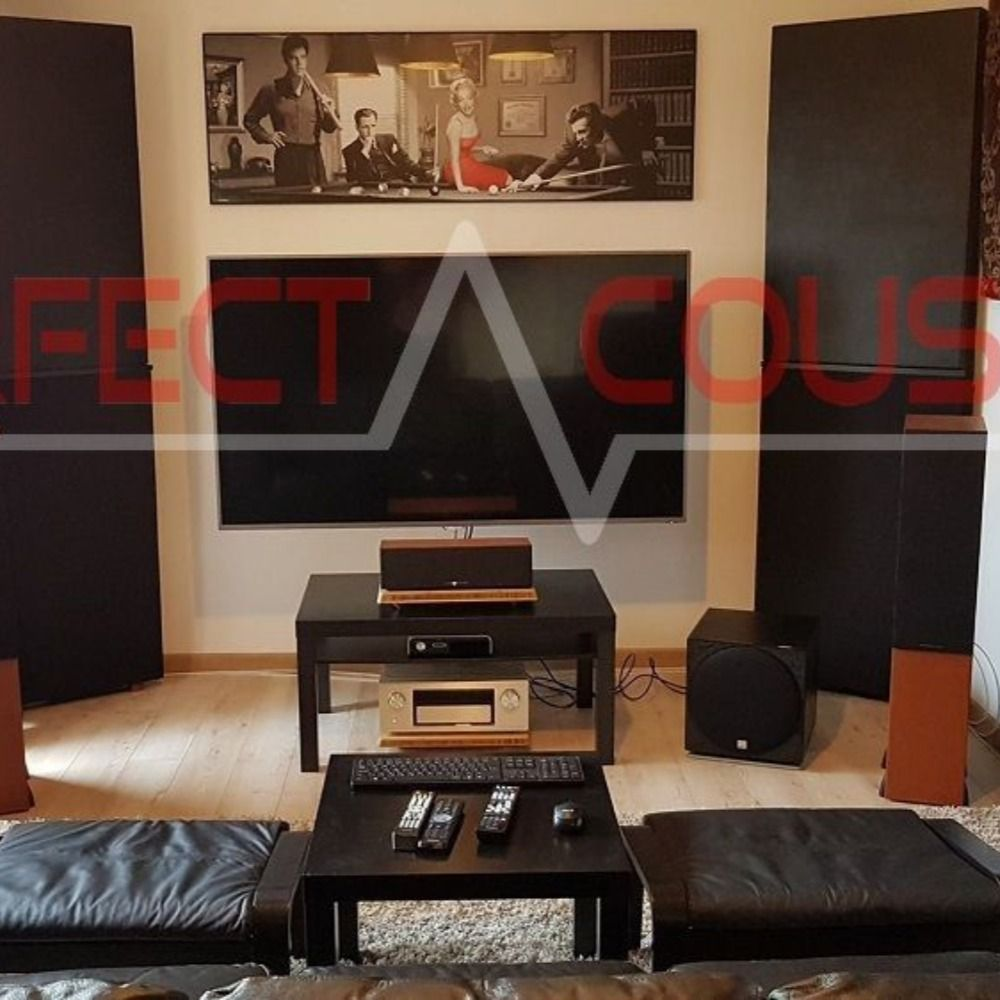 Arpads home theater room perfect acoustic bass trap with