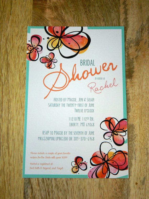 Bridal Shower Invitation, Bridal party invitation