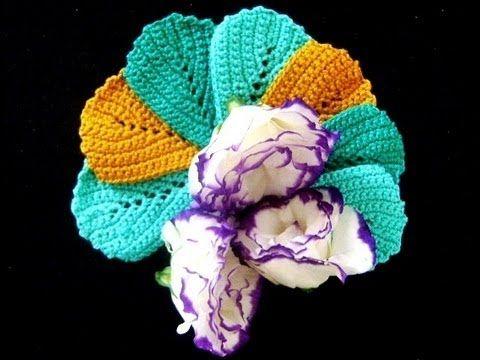 Tutorial, part 1: How to crochet leaves  FOLHA EM CROCHE MOD. 12 PARTE 1 (HD)