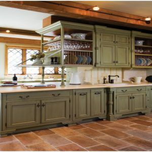 Kitchen White Cabinets With Green Walls Mediterranean Olive Sage