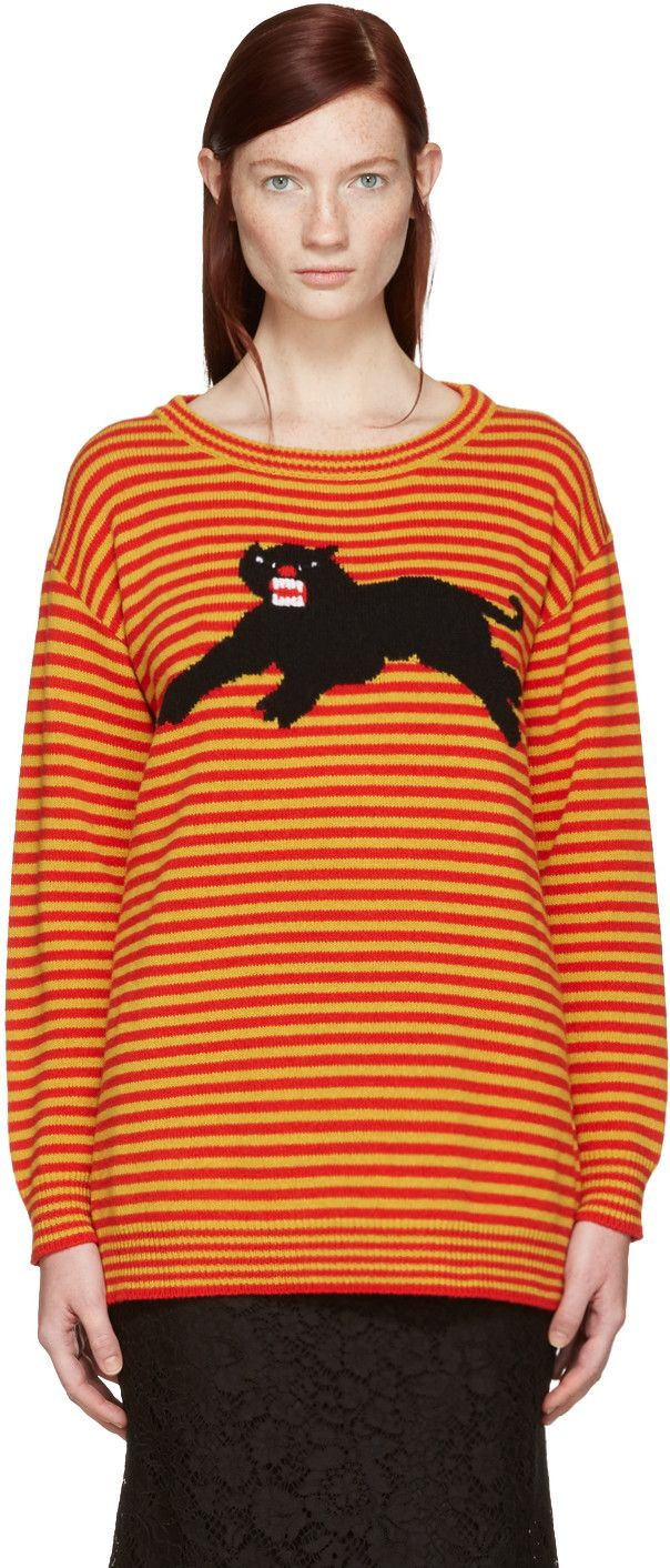 8a8bb6cc36dd1 GUCCI Yellow  amp  Red Striped Puma Sweater.  gucci  cloth  sweater Gucci