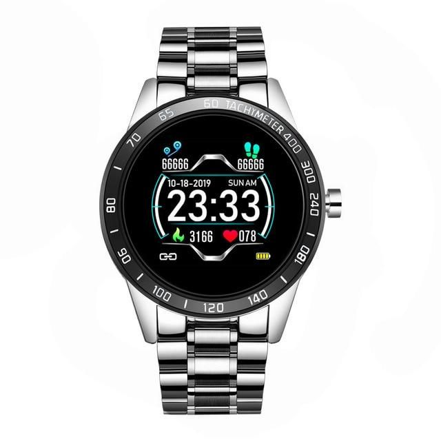 LIGE 2020 New Smart Watch Men LED Screen Heart Rate Monitor Blood Pressure Fitness tracker Sport Watch waterproof Smartwatch+Box - Silver / China