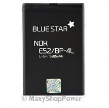 BATTERIA ORIGINALE BLUE STAR 3,7V 1600mAh LI-ION RICAMBI LITIO PER NOKIA E52 NERA BLACK NEW NUOVA IDEA REGALO - SU WWW.MAXYSHOPPOWER.COM