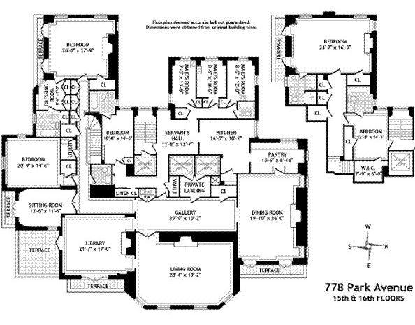 Habitually Chic Brooke Astor Auction Jenner House Kris Jenner House Floor Plans