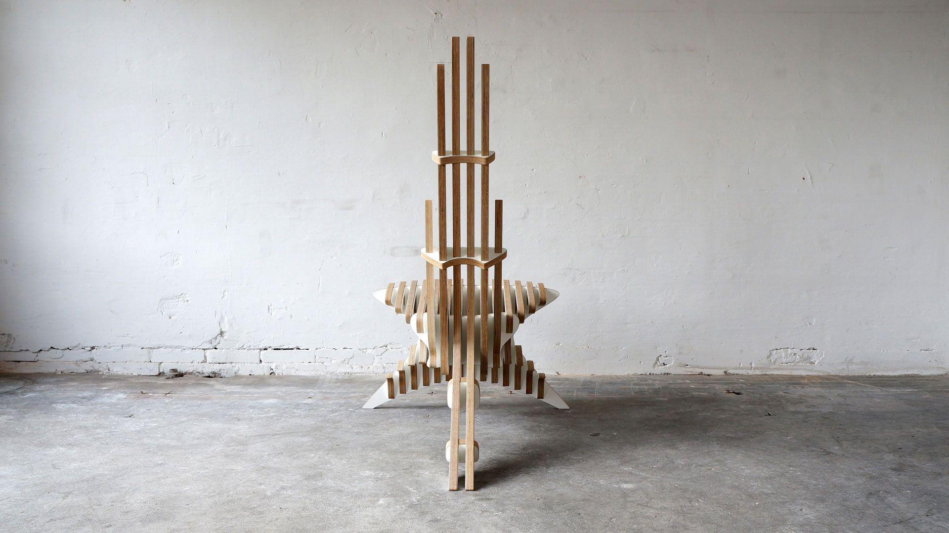 Peak Lounge Chair Фанера, Интерьер и Мебель