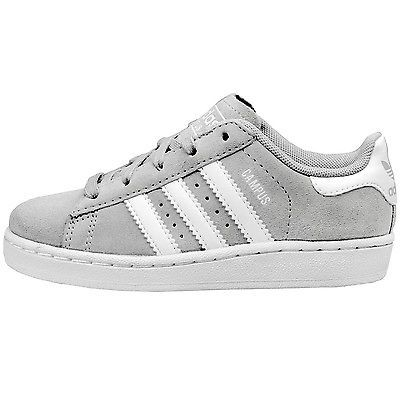 Adidas Campus 2 Child C77167 Grey White Shoes Sneakers Little Kids Youth Size  12