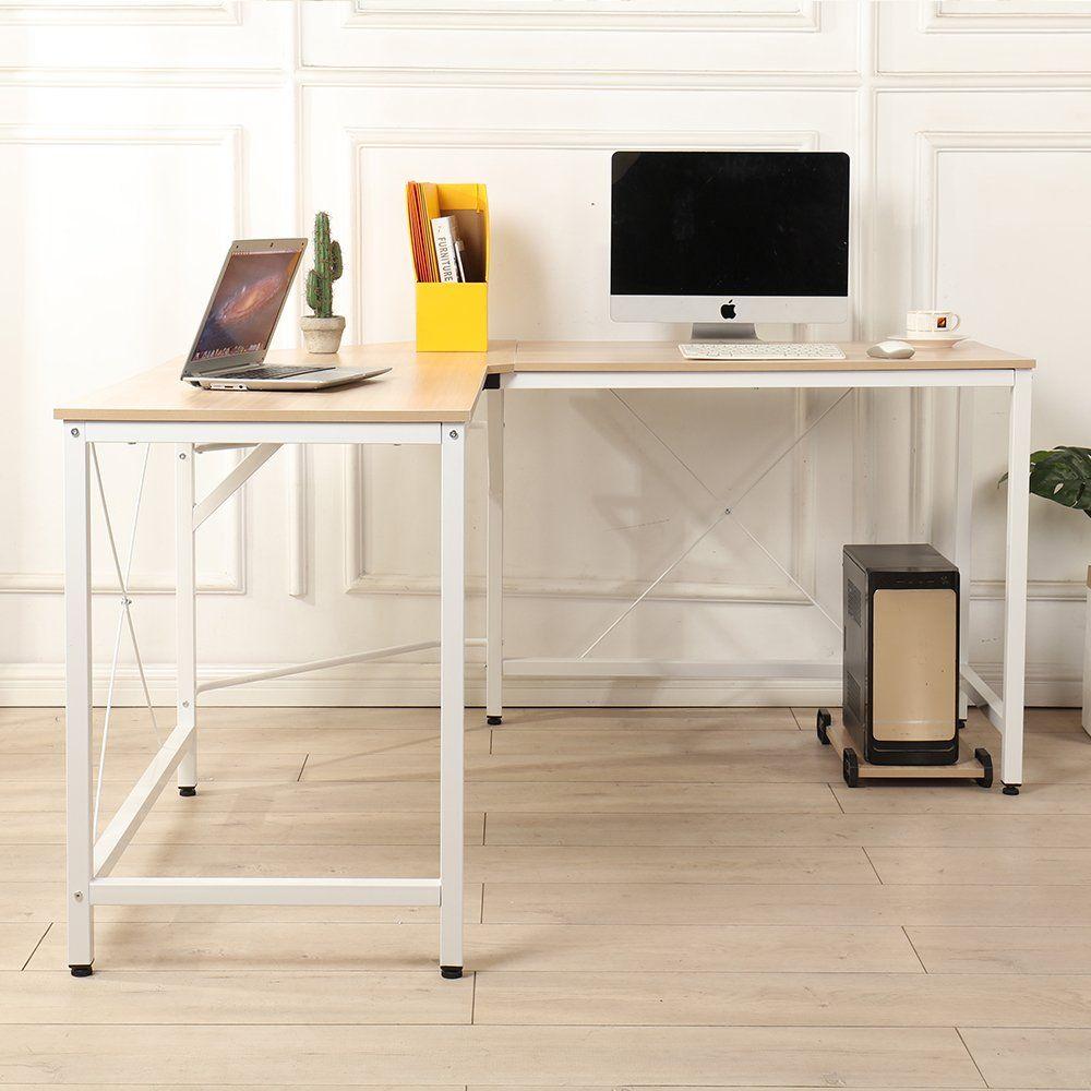 Soges 59 X 59 Large L Shaped Desk Computer Desk Corner Desk Office Desk Computer Table White O White Corner Desk Wood Corner Desk Computer Desk With Shelves