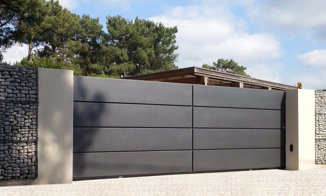 Portail alu lucco cloture en 2019 for Portail et cloture alu