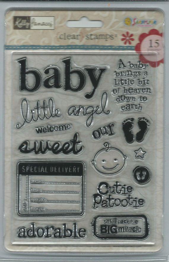SandyLion Clear Acrylic Stamp Set    NEW  by CynthiasCraftingNook