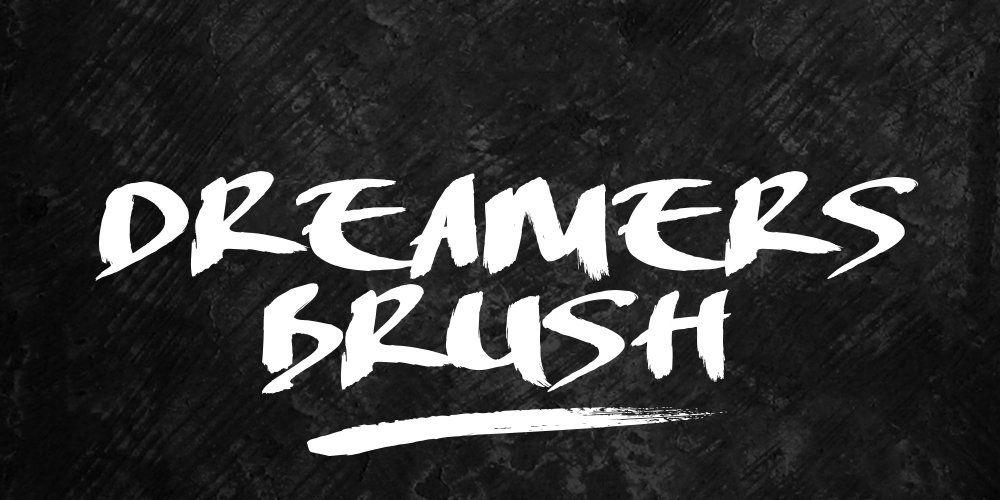 Lakeshore Brush Free Font Brush Font Paint Font Font Packs