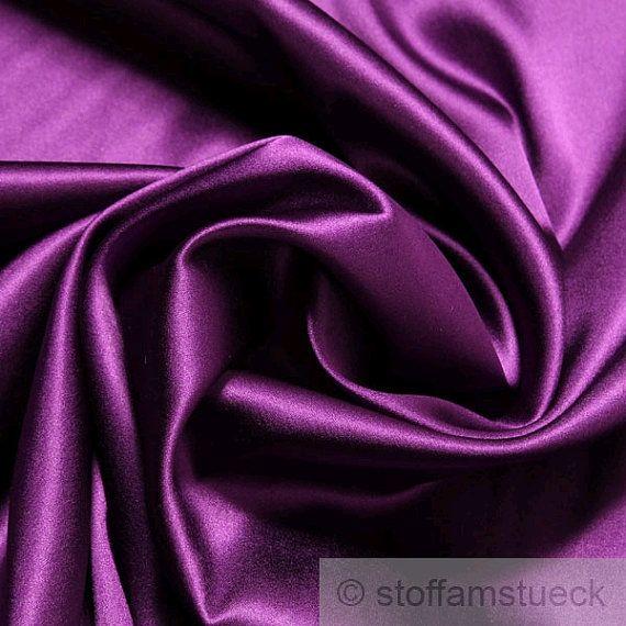 Stoff Seide Elastan Satin Violett Weich Fliessend Stretch Elastisch Edel Fabric Silk Purple