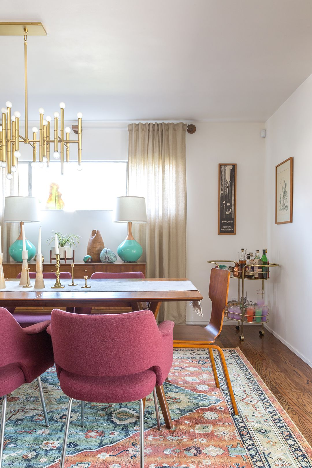 Check Out Our Newly Renovated Mid Century Modern Dining Room