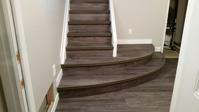 Vinyl Plank On Curved Stairs Curved Stairs Quite Different Could Work In Plett Luxury Vinyl Plank Vinyl Plank Flooring Stairs Vinyl