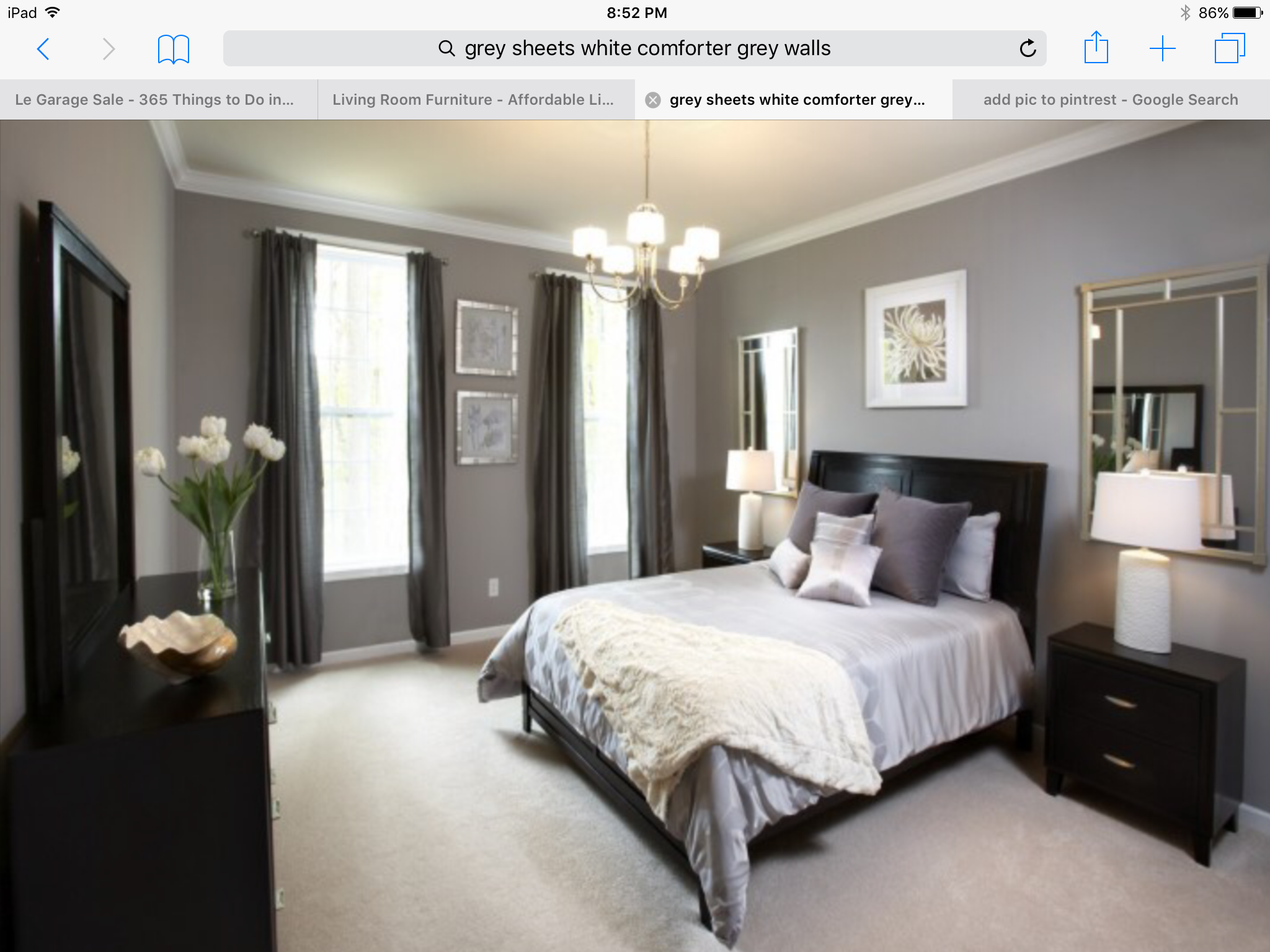 Black Curtains Bedroom Master Grey With Gray Walls Dark Furniture