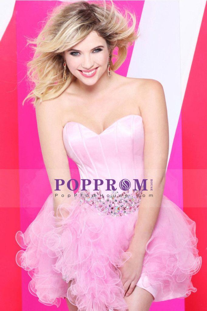 Short #Sleeveless #Homecoming #Dresses - http://www.poppromhouse.com ...