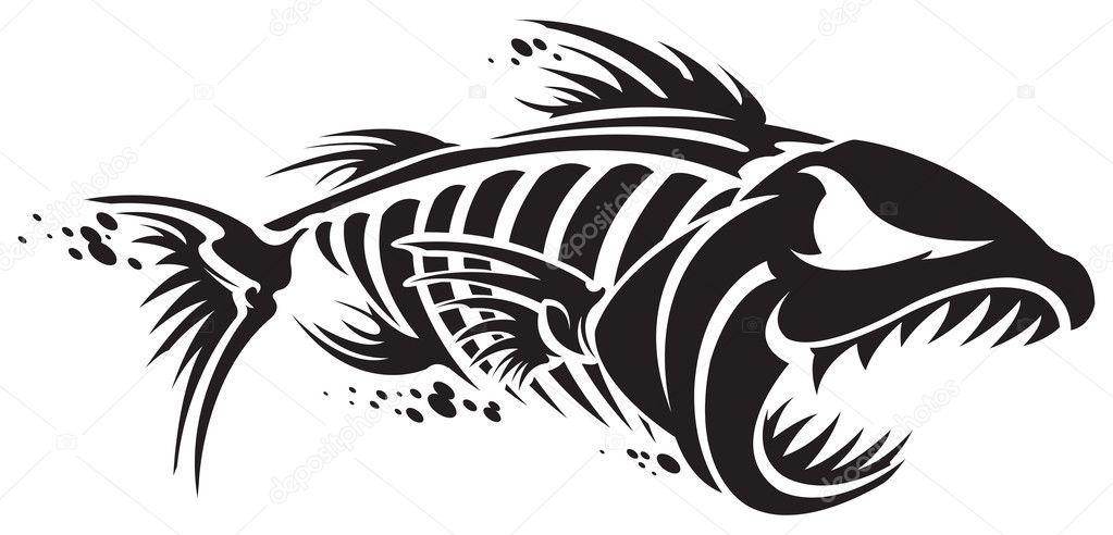 Download royalty-free Fish skeleton vector illustration
