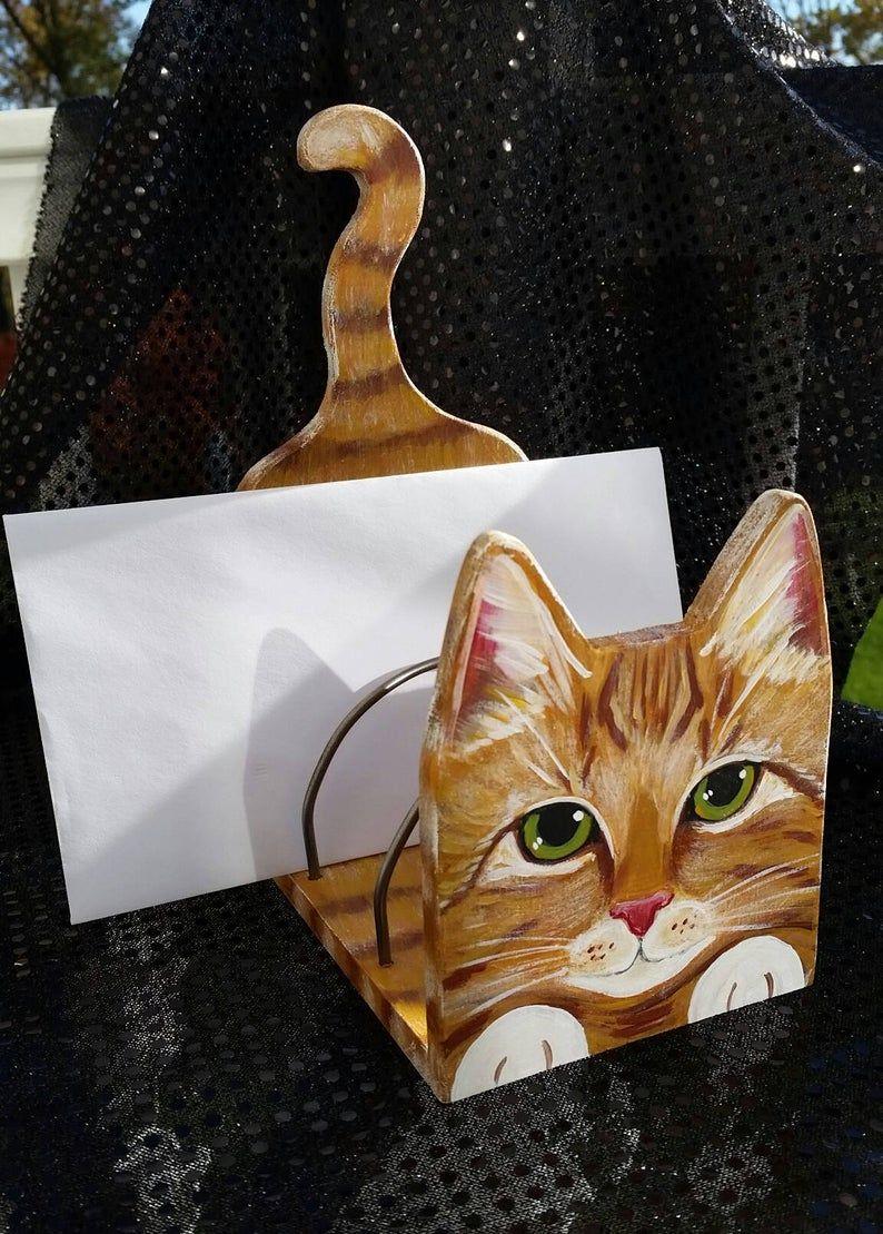 Custom Cat Desk Organizer Cute Desktop Organizer Etsy In 2020 Custom Cat Custom Cat Portrait Cat Portraits