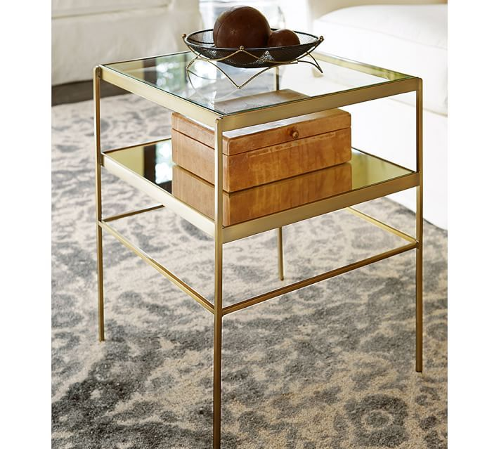 Leona End Table With Images Cube Table Glass Side