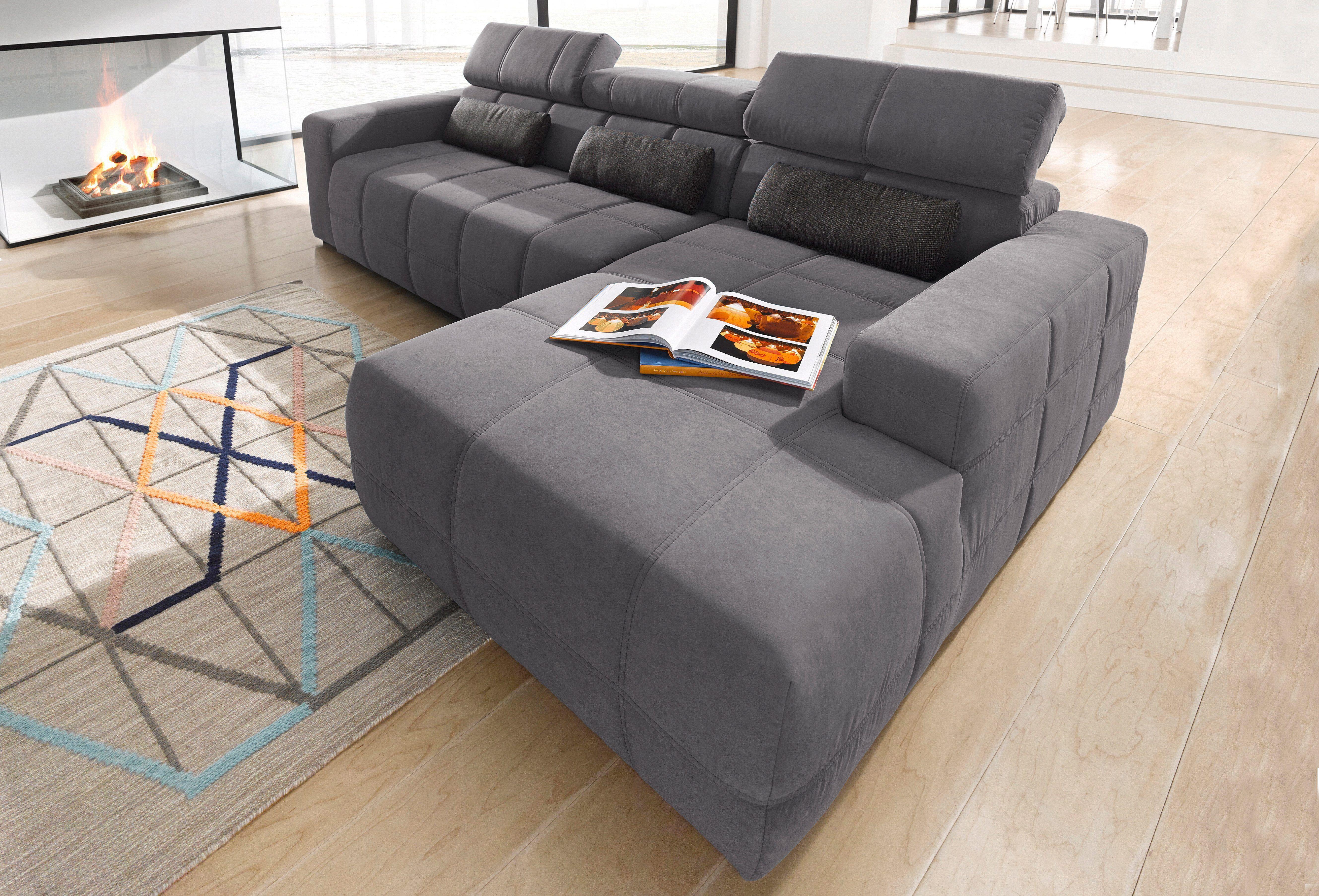 Wundervoll Sofa Sitztiefenverstellung Galerie Von Ecksofa Grau, Mit Sitztiefenverstellung, Recamiere Rechts, Fsc®-zertifiziert,