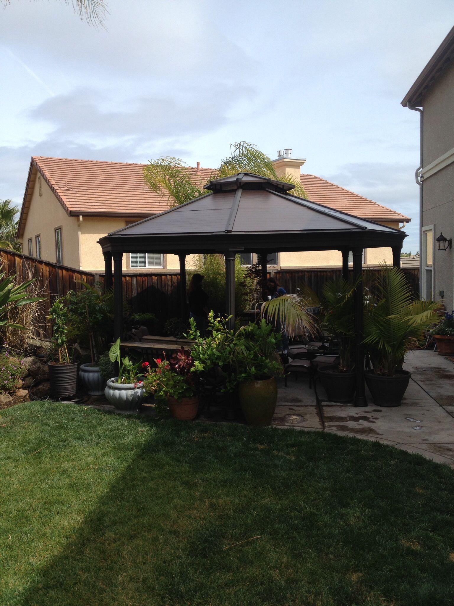 Costco Gazebo in my garden in 2019 | Backyard, Portable ... on Backyard Pavilion Costco id=46063