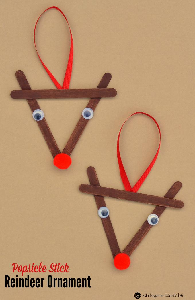 Popsicle Stick Reindeer Kid Christmas Ornament  크리스마스, 크리스마스 ...