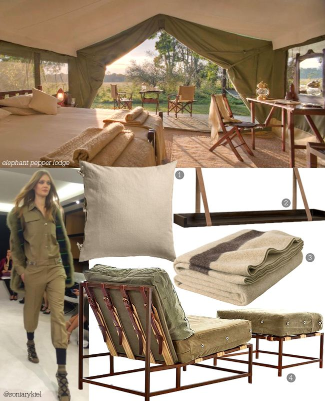 A more laid-back approach to #decor is the military-inspired look, also known as En Safari