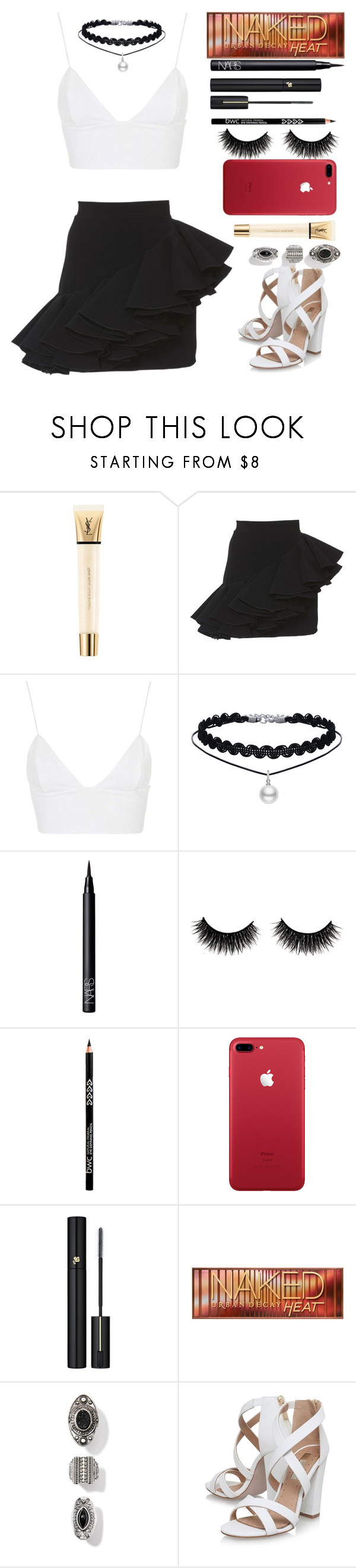 """Night"" by tutu-81 ❤ liked on Polyvore featuring Yves Saint Laurent, Balmain, Rare London, NARS Cosmetics, Lancôme, Urban Decay and Miss KG"