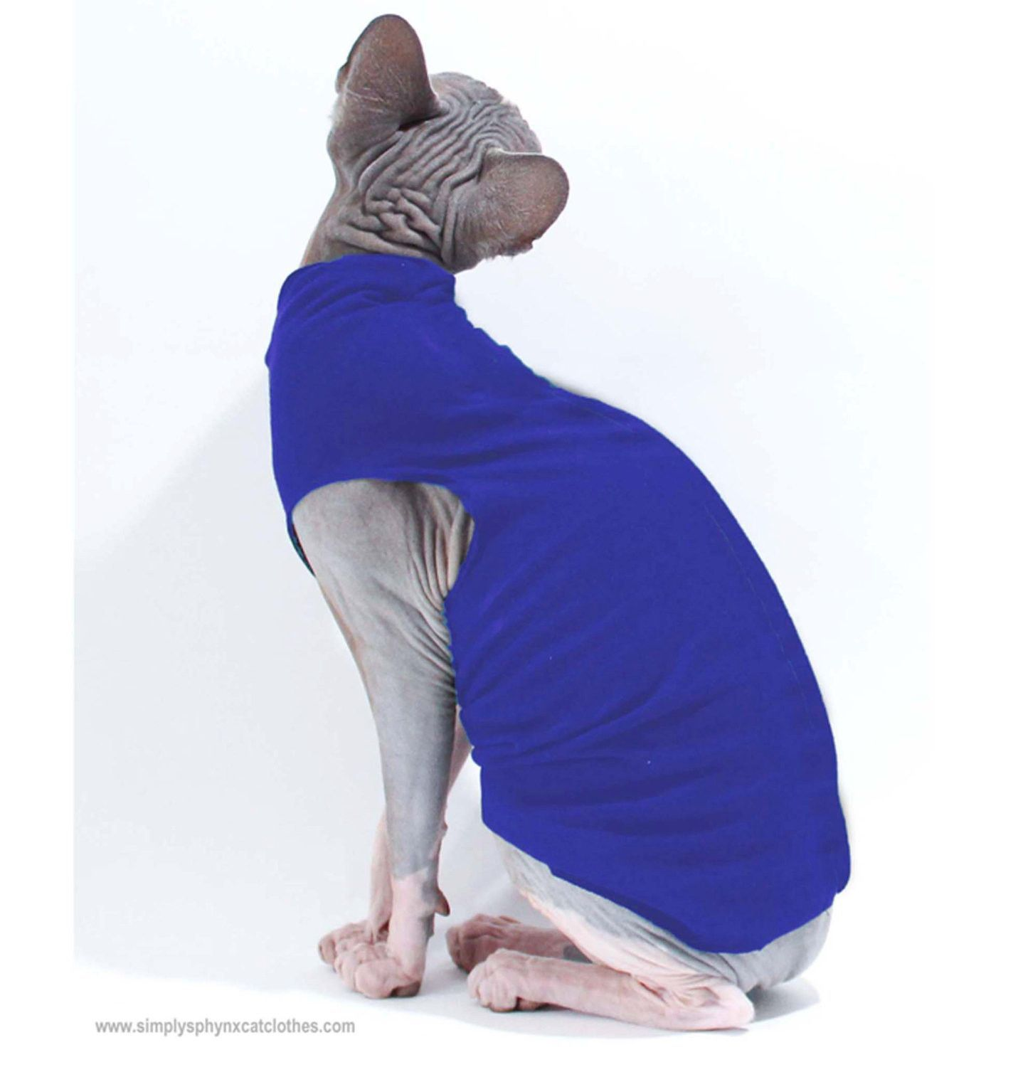 Stock Jersey Tank Top Sphynx cat clothes, Cat clothes
