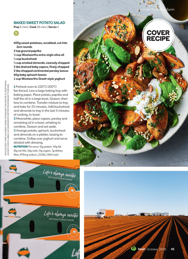Fresh Magazine Recipes Woolworths Salad With Sweet Potato Food Magazine Recipes