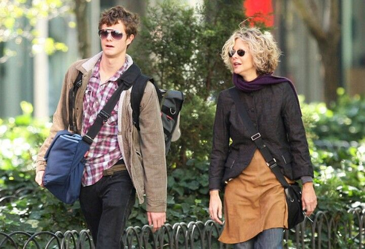 Meg Ryan with her and ex hubby Denis Quid's son Jack