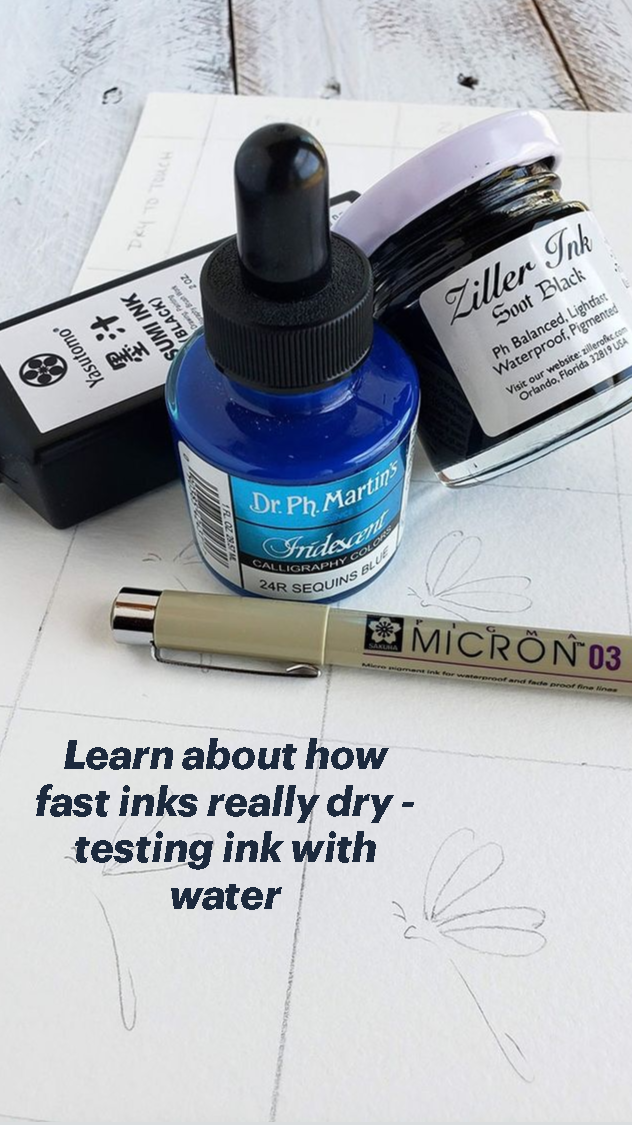 Learn about how fast inks really dry - testing ink
