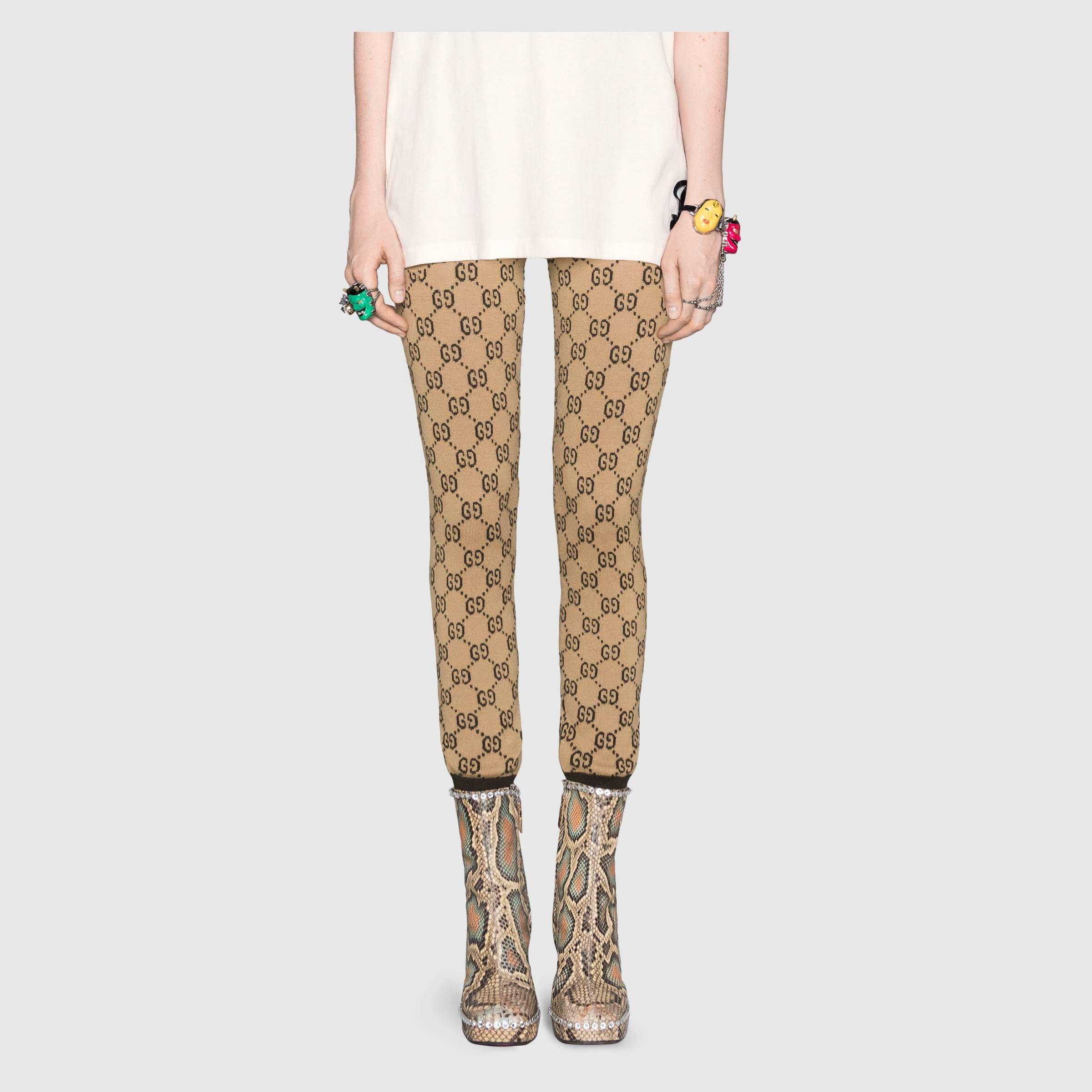 92f55872db4bf Gucci - Intarsia GG wool leggings | PANTS/SHORTS | Gucci, Leggings ...
