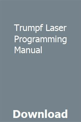 Trumpf Programming Manual