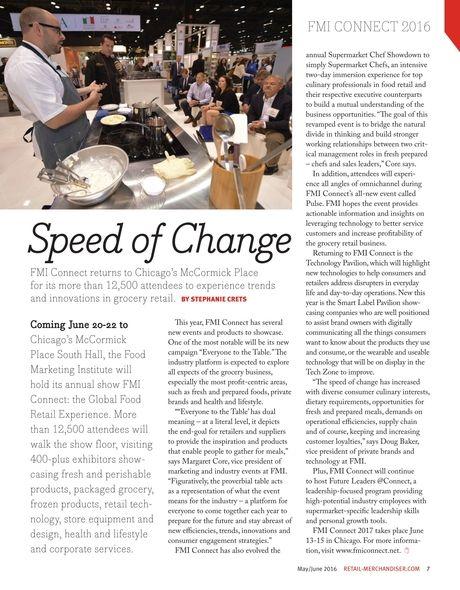 Speed of Change #FMIConnect #RetailMerchandiser #Chicago #Food